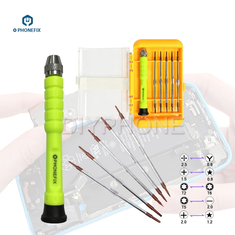 PHONEFIX 11 in 1 Precision Screwdriver Kit Double End Screwdriver Bit for iPhone Samsung Huawei Xiaomi Repair Hand Tool