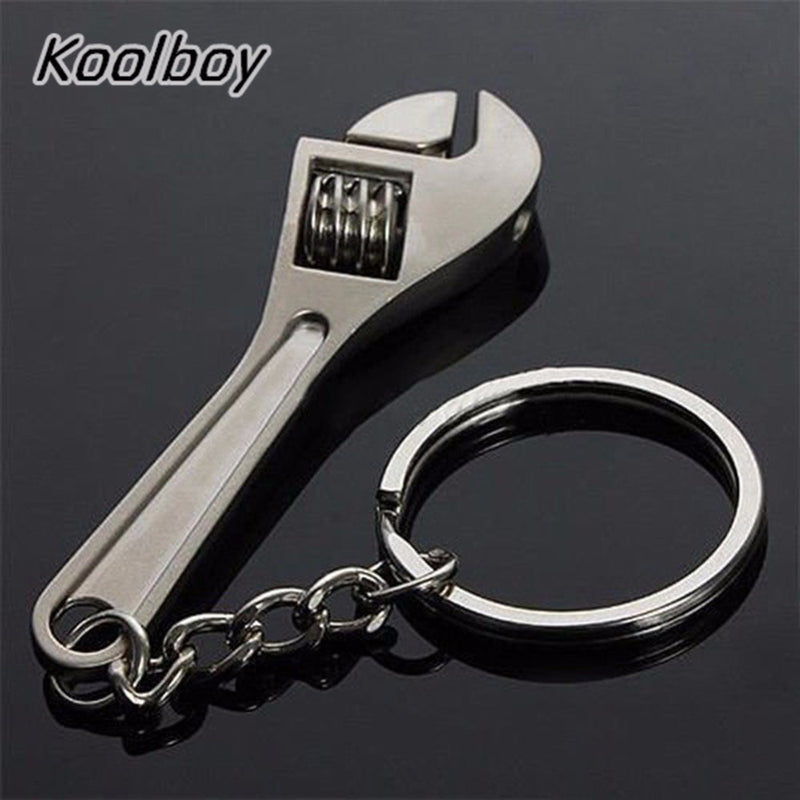 Mini Adjustable Wrench Spanner With Key Chain Ring Keyring Portable Mini Hand Tool Wrench Gift