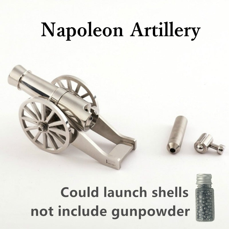 Mini Napoleon Cannon Metal Naval Artillery Stainless Model Kits Collection Desktop Cannon Civil War Cannon Model For Decoration