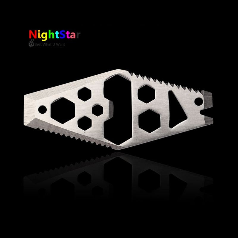 EDC Tools Mini Screwdriver Outdoor Pocket Tool Hex Key Wrench Bottle Opener Camping Equipment Screwdriver Saw Blade Ruler