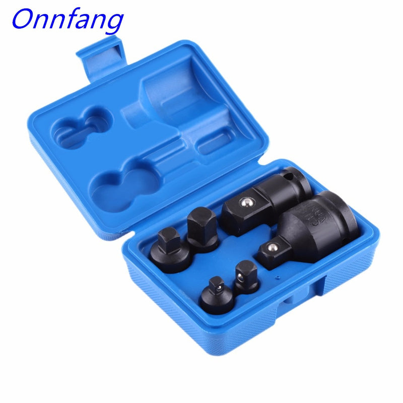 "Onnfang 6/8 Pieces/set Socket Adaptor Reducer Adapter Drive Wrench 1/4"" 1/2"" 3/8"" 3/4"" Ratchet Breaker Hand Tool Set"