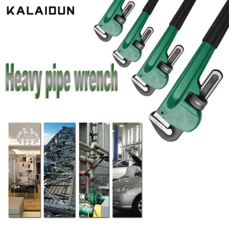 "KALAIDUN Wrench Pipe Clamp 8"" 10"" 12"" Pipe Wrench Heavy Duty Plumbing High Carbon Steel Hardware Tool Anti-rust Anti-corrosion"