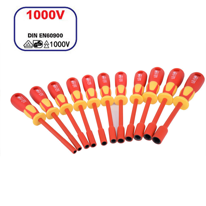 insulated tools electrical 1000v socket VDE Nut Driver M4-M13 IEC60900 certification insulating tools insulation screwdriver