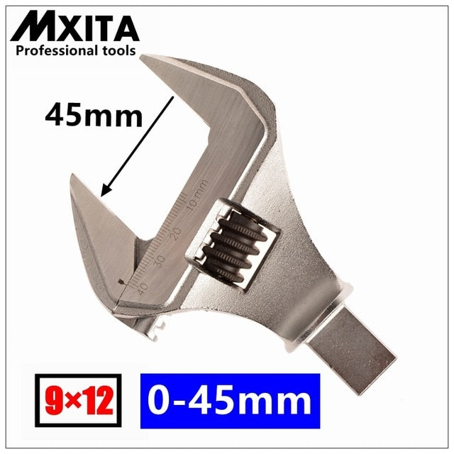 MXITA Adjustable Insert Ended head Torque Wrench Interchangeable Torque Wrench Hand Spanner 9X12 14X18