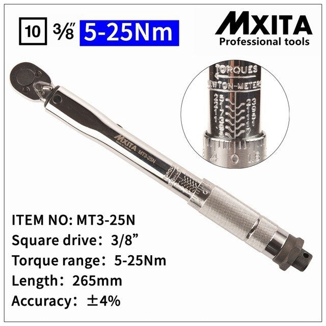 MXITA  Adjustable Torque Wrench  Hand  Spanner Wrench Tool car Bicycle repair tools
