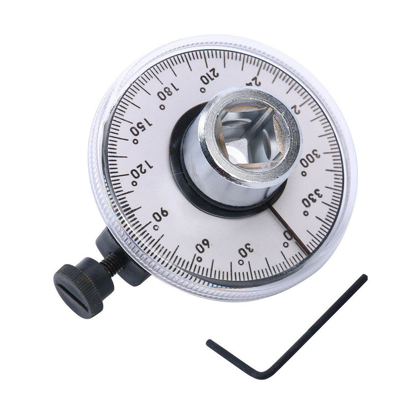 New 1/2 Inch Drive Torque Angle Gauge Meter Angle Rotation Measurer Performance Tool Wrench