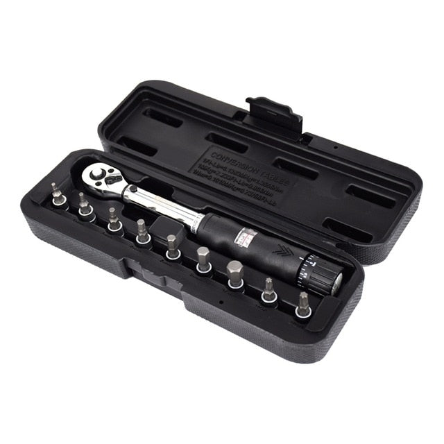"1/4"" DR 2-24Nm Bike Torque Wrench Set Bicycle Repair Tools Kit Ratchet Mechanical Torque Spanner Manual Wrenches"