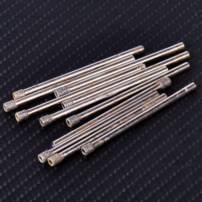 LETAOSK New 10Pcs 3mm Diamond Coated Drill Bit Hole Saw Core Drills for Glass Granite Marble Tile
