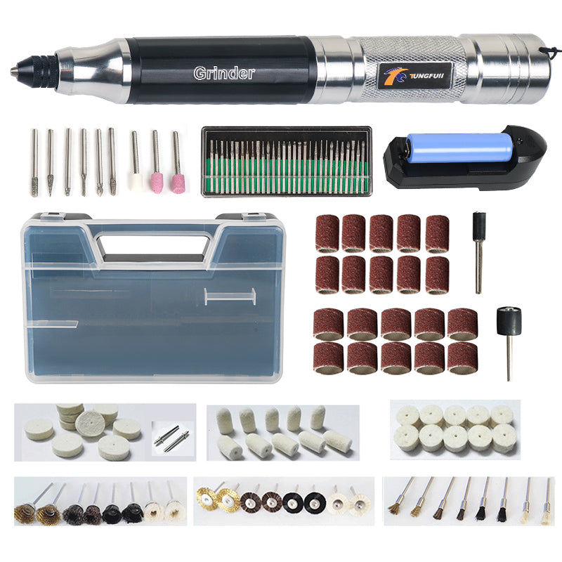 Tungfull Cordless Drill Portable Electric Drill Tool Grinder Wireless Charge Engraving Pen Milling Drilling Polishing Machine