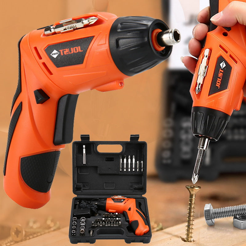Urijk 45 In 1 Wireless Electric Drill Rechargeable Hand Drill Kit For Screw Installation With LED Light 4.2V USB Cable Charging