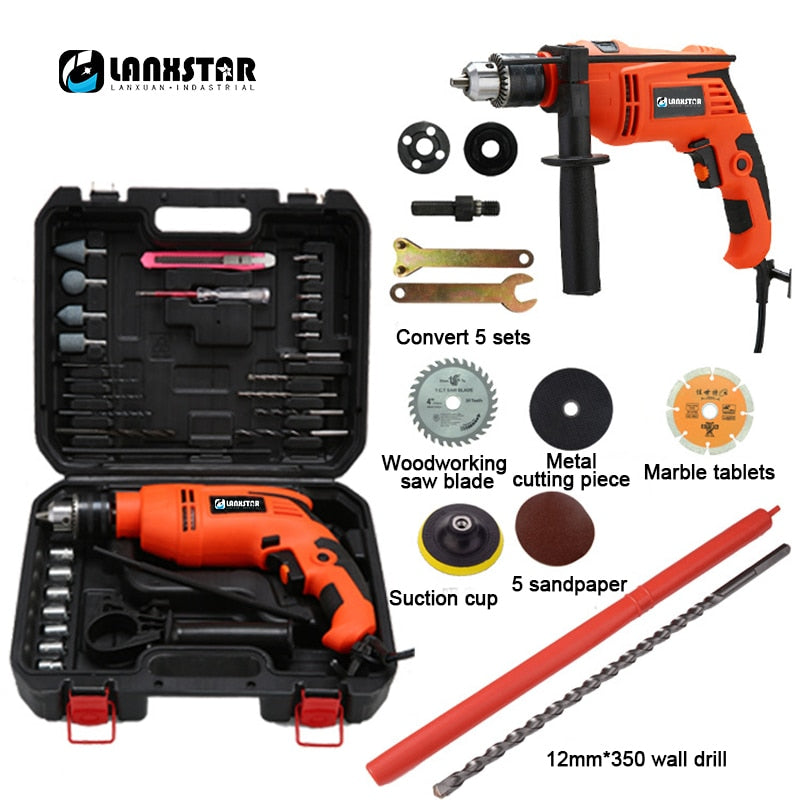 Dual-purpose Multifunction 880W Impact Drill  Variable Speed Adjustable Industrial Impact Drill Electric Hammer Tool Drills