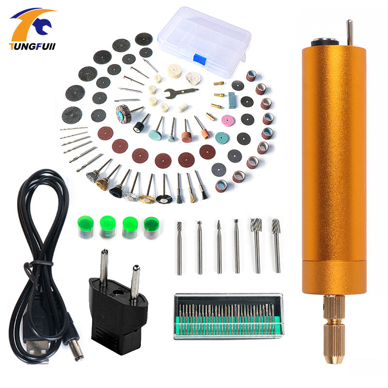 Tungfull Mini Electric drill Hand Drill Motor Hole Saw Aluminum Mini Electric DIY PCB with drill for Wood Plastic Drilling
