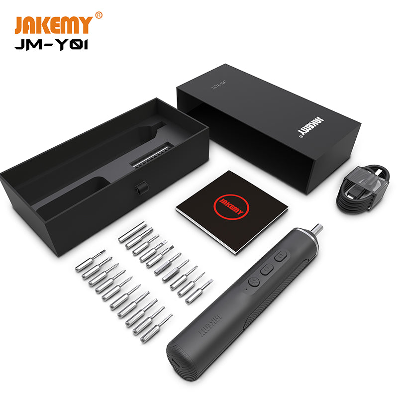 JAKEMY Cordless Electric Screwdriver Rechargeable 2000mAh Lithium Battery Screwdriver for Mobile Phone Computer Repair Tools