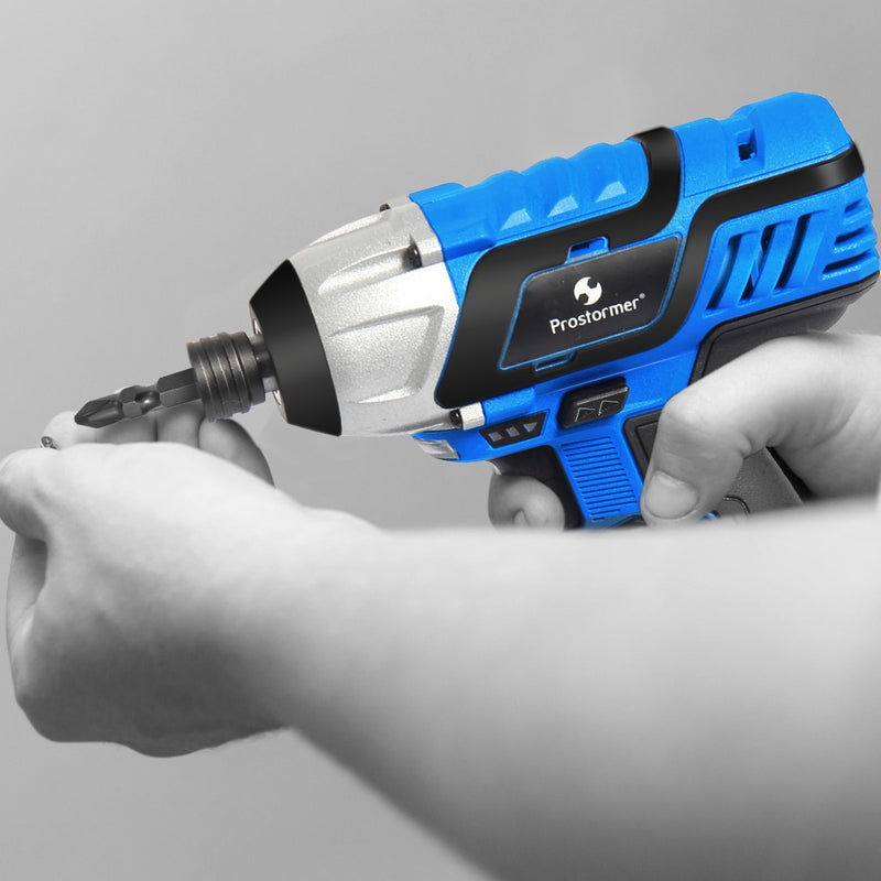 PROSTORMER 12V Electric Screwdriver 100NM Cordless Rechargeable Lithium Battery Household Portable Screwdriver Power Tools