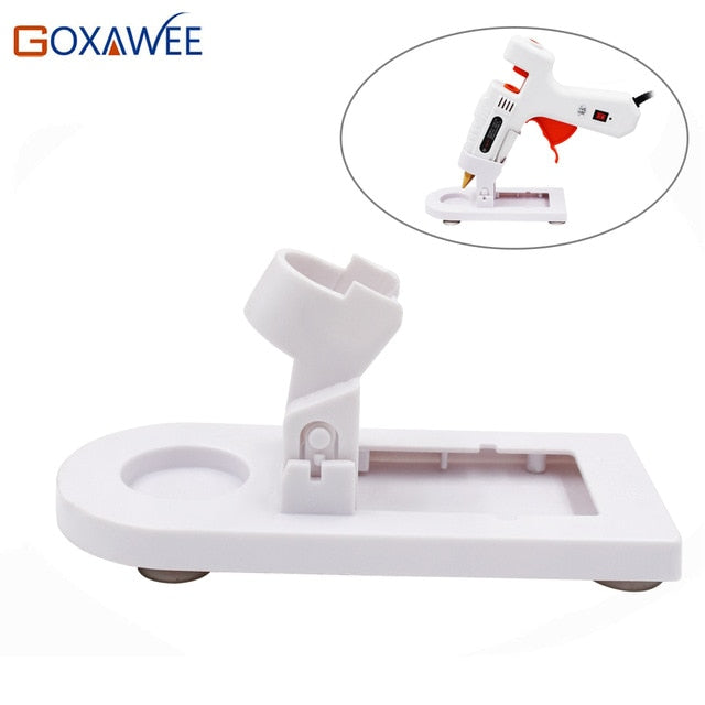 GOXAWEE 20W 80W 105W Hot Melt Electric Heat Glue Gun Stand Base For Home DIY Repair Glue Gun