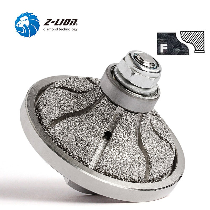 Z-LION F20 Type Shape Diamond Vacuum Brazed Hand Profile Wheel For Countertop Edging Granite Marble Edge Grinding Router Bit