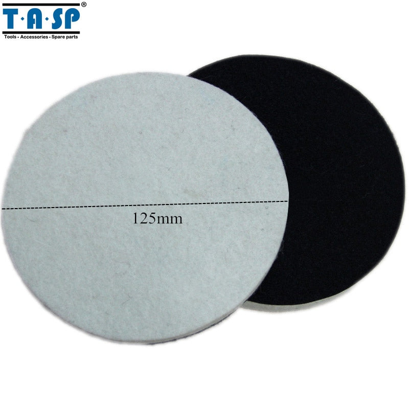 TASP 2pcs 125mm Wool Polishing Pad Buffing Pad for Glass Car Polisher