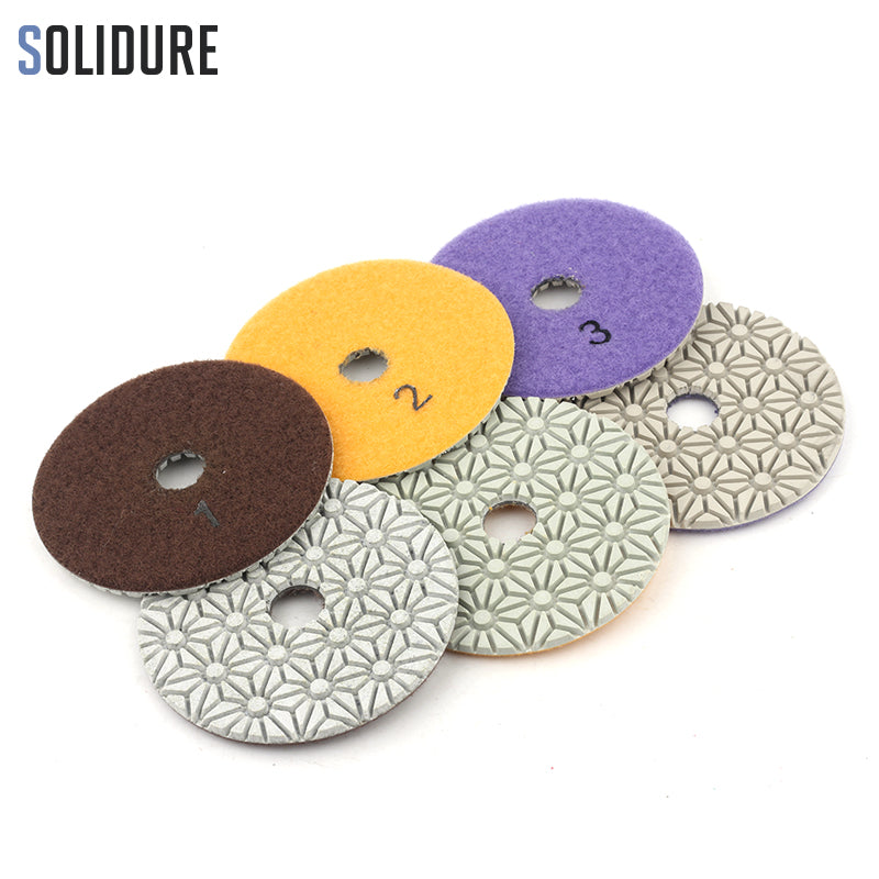 Dry/wet Diamond 3 Step Polishing Pads Diamond Granite Polishing Tool Marble Concrete Grinding