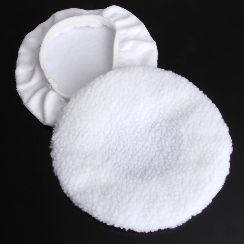 DRELD 2Pcs Buffer Grinding Polishing Pad Microfiber Bonnet Polishing Pad For 9 & 10inch Car Paint Care Waxing Polishing Wheel