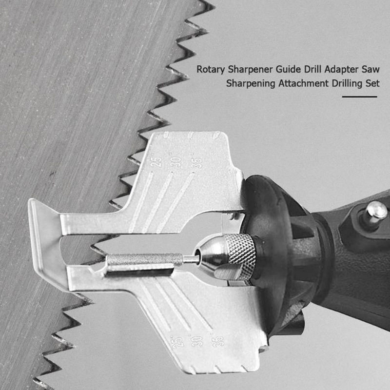 Chain Saw Tooth Grinding Tools Sharpening Attachment for Electric Grinder Outdoor Garden CLH@8