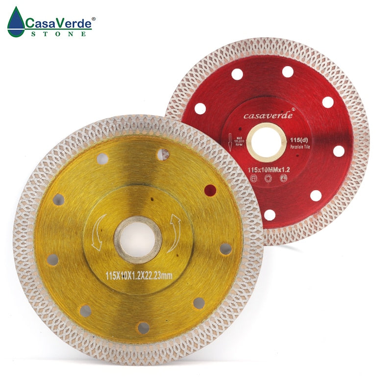 Free shipping DC-SXSB02 4.5 inch super thin diamond ceramic saw blade 115mm for cutting porcelain tile