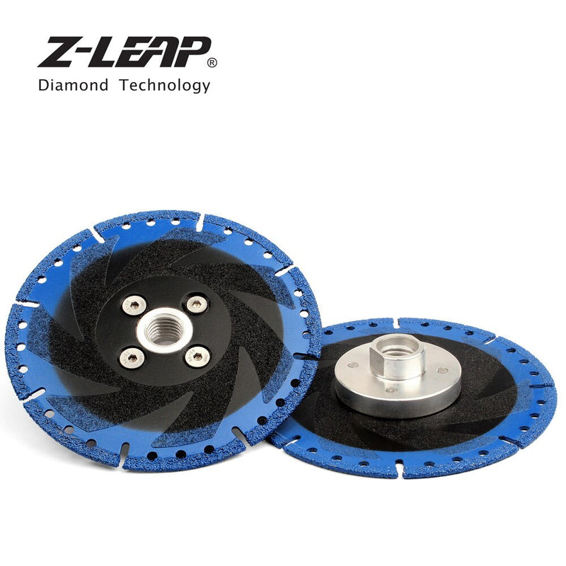 "Z-LEAP 5"" 125mm Vacuum Brazed Diamond Saw Blade Cutting Disc With 5/8-11 Or M14 Flange Multi Purpose Rescue Grinding Wheel"
