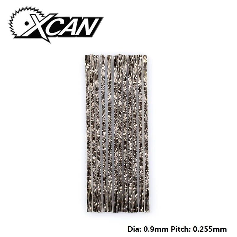 XCAN 144pcs Spiral Scroll Saw Blades  Jig Saw Blades Spiral Teeth 3# Saw Blades For Carving