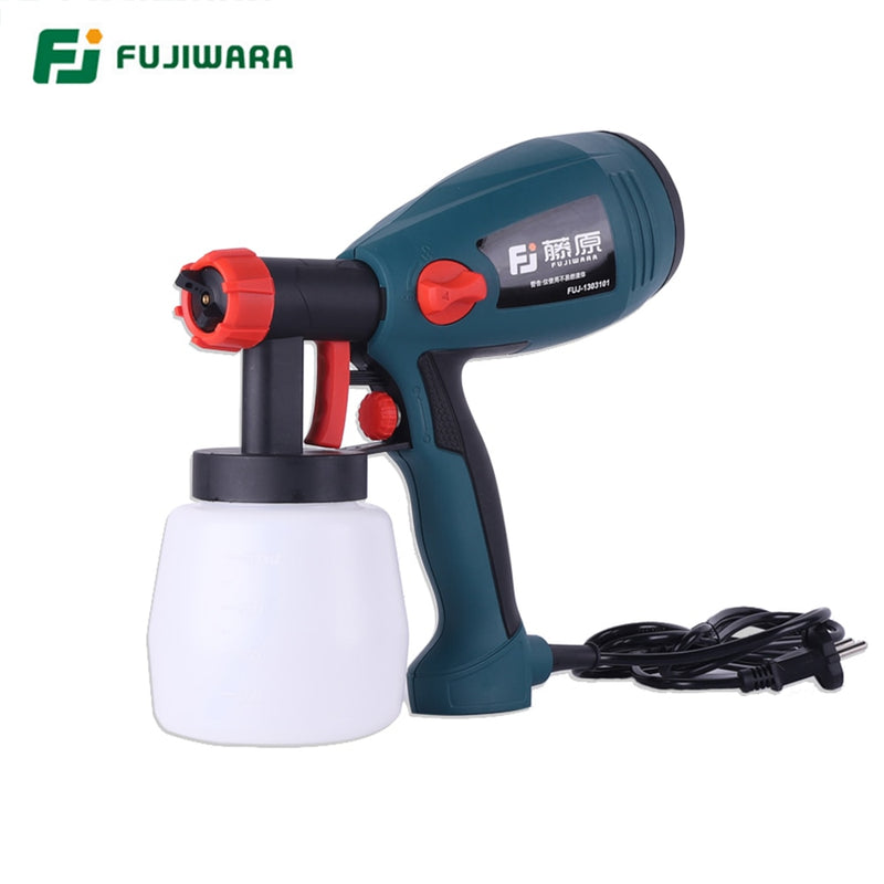 FUJIWARA 400W Electric Airless Spray Lacquer Gun Paint Spray Gun Paint Painting Tools High Atomization 1.8mm/2.5mm