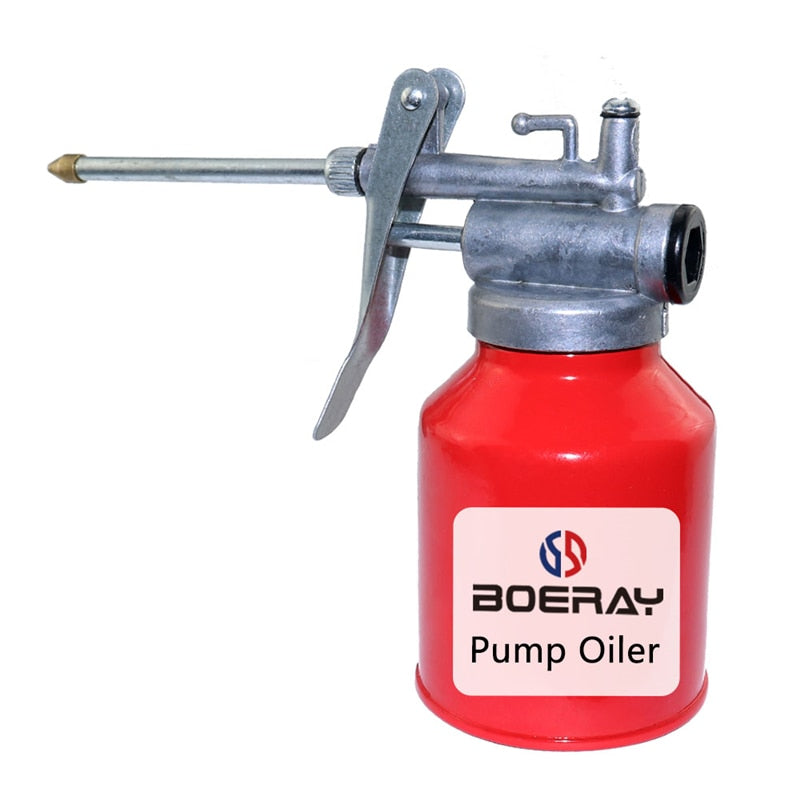 Boerray 2 Pcs 250ml High Pressure Pump Oiler Cans Portable Lubrication Oil Can Machine Oiler Spray Gun
