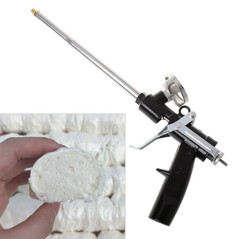 340mm Professional Plastic Metal Polyurethane Manual Foam Expanding Spray Gun For Glass Sealant