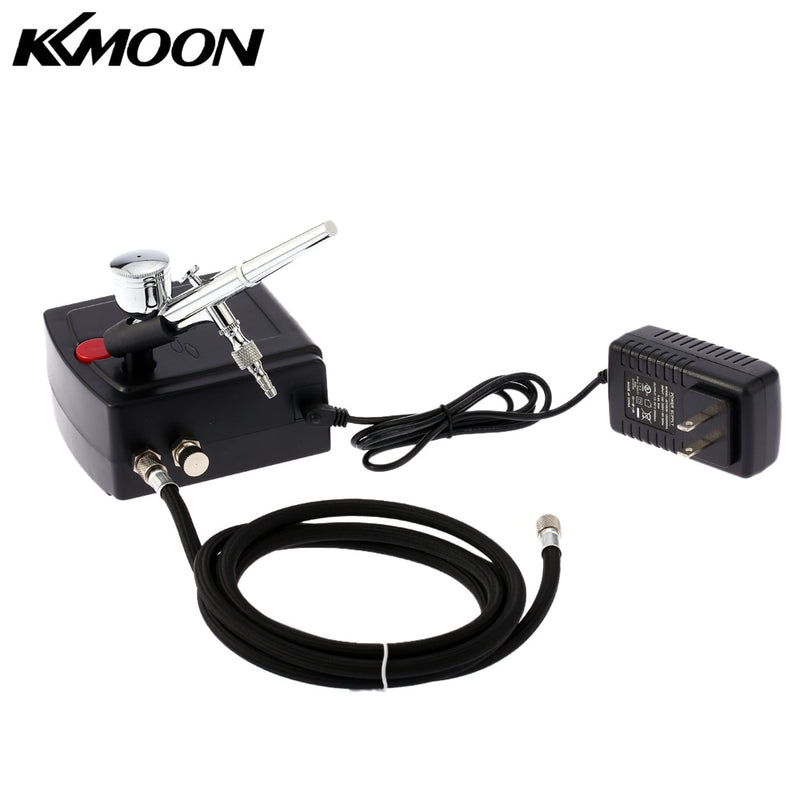 KKmoon Dual Action Airbrush Compressor Kit Air-Brush paint Spray Gun Sandblaster Sandblast gun for Art car Tattoo Nail Tools Set