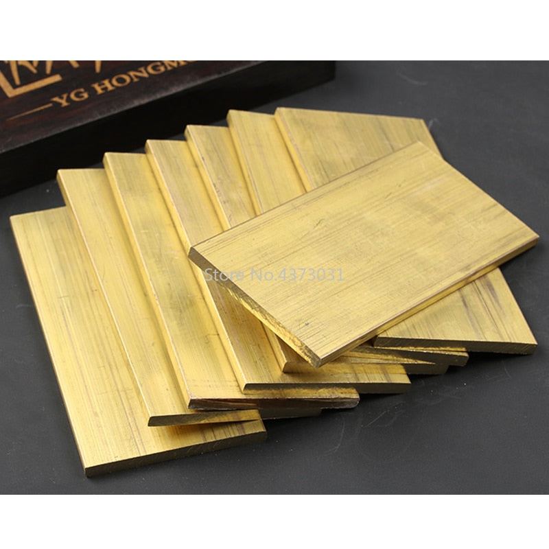 Brass Copper Plate Sheet DIY Handmade material DIY Laser Cutting CNC Frame Model Mould material