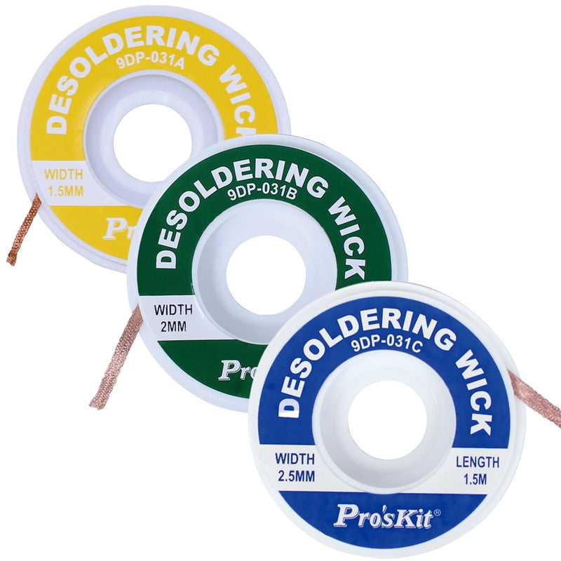 Pro'skit Professional Length 1.5M width 1.5mm 2.0mm 2.5mm Desoldering Braid Solder Remover Wick Wire Repair Tool