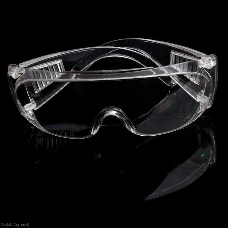 New Clear Vented Safety Goggles Eye Protection Protective Lab Anti Fog Glasses qiang