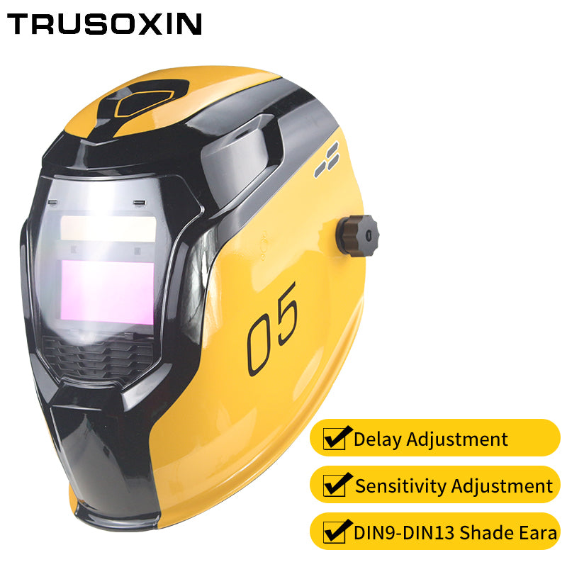 Samrt Solar LI battery Automatic Darkening TIG MIG MMA MAG Electric Welding Mask/Helmets/Welder Cap for Welding Machine