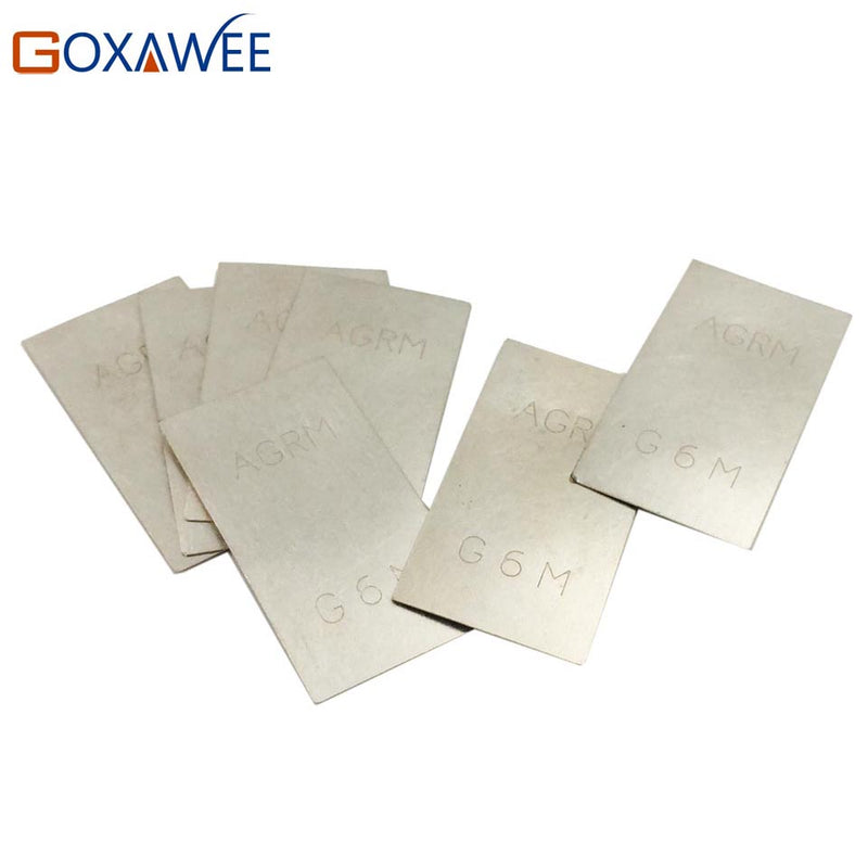 GOXAWEE 5pcs Silver Welding Soldering Plate For Jewelry Welding Soldering Tools 900 Silver Welding Plate Welding Wire Rods 2G/PC