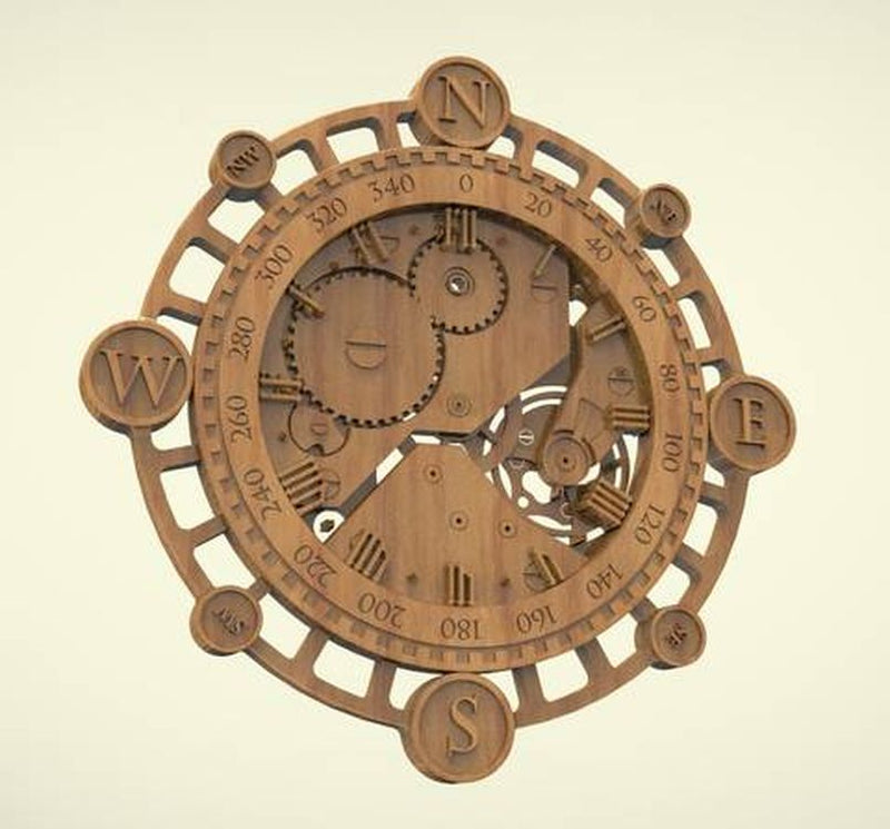 3d model relief for cnc router in STL file format clock 34.7MB C22