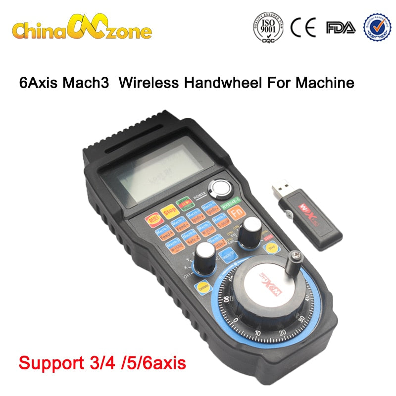 RUS/ EU Delivery! 40 Meters Wireless Mach3 MPG Pendant mpg lathe Handwheel for CNC Mac.3, 4 axis Wholesale Price (HandWheel-04)