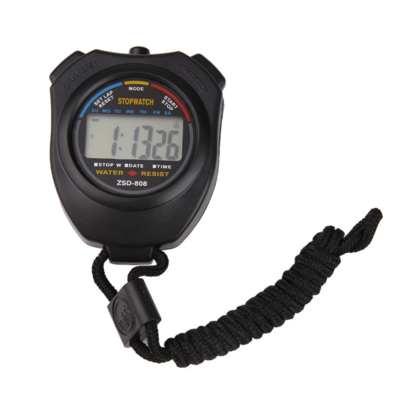 High Quality New Digital Running Timer Chronograph Sports Stopwatch Counter With Strap