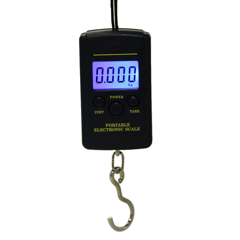 Multifunctional LED Mini Kitchen Weight Scales Portable 40kg/10g Electronic Hanging Fishing Digital Pocket Weight Hook Tool