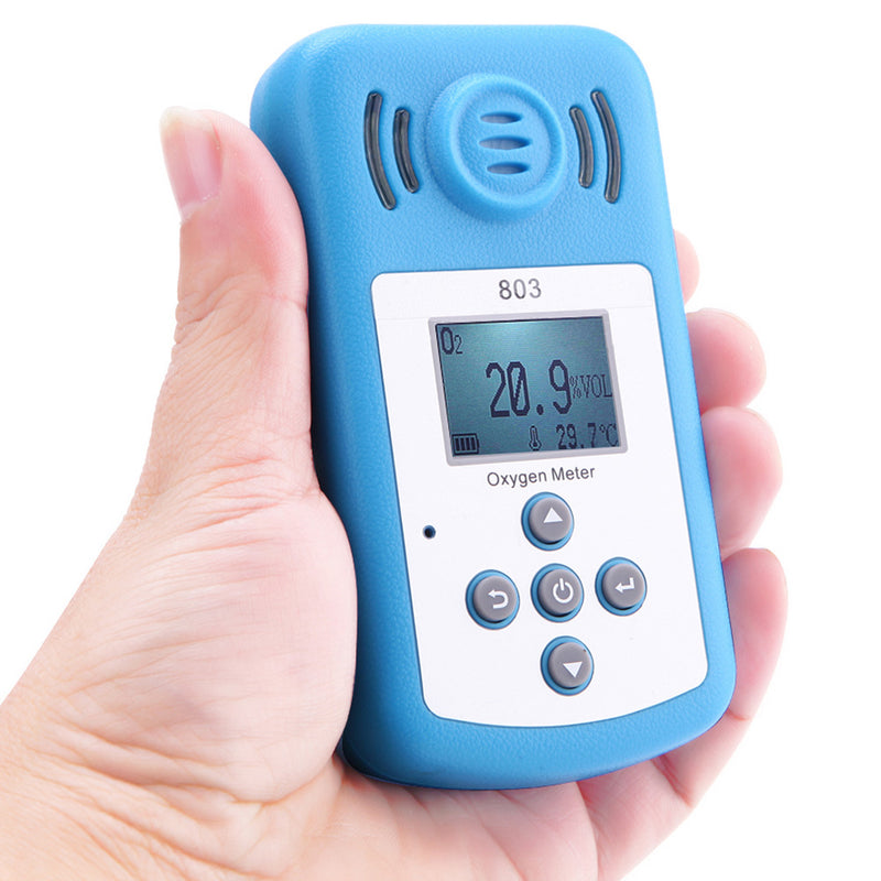 Fine Oxygen(O2) Concentration Detector Mini Oxygen Meter O2 tester Gas Analyzer with LCD Display and Sound-light Alarm