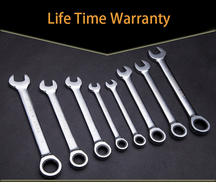 9 mm Ratcheting Combination Wrench Set Hand Tools Gear Wrenches Spanners Torque Instruments Multitool Tool Kit for Car