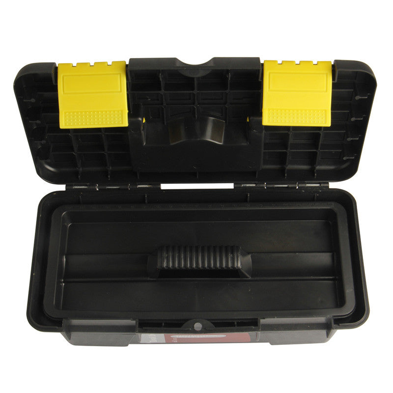"Storing Box 10""/250mm Two-layer Black Plastic PP Box Portable Fittings Box The Vehicular Multifunction Tool Box"
