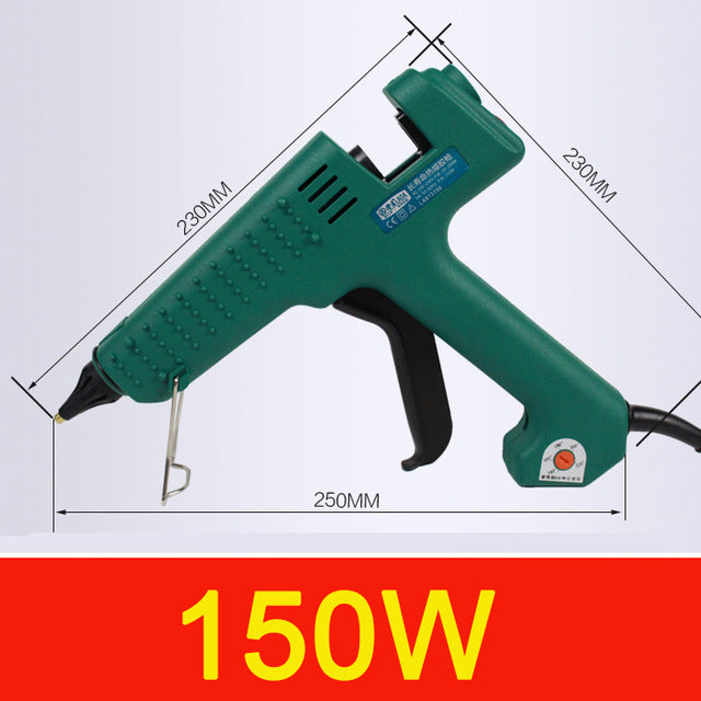 LAOA 25W/60W/100W/150W Hot Melt Glue Gun Professional pistolet a colle Mini For Metal/Wood Working Stick Paper Hairpin PU Flower