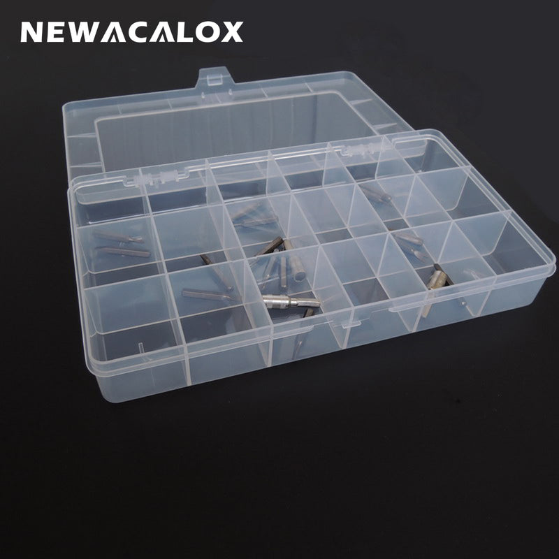 Plastic Toolbox Transparent Electronic Component Storage Box Casket SMD Metal Parts Screw Container DIY Tool