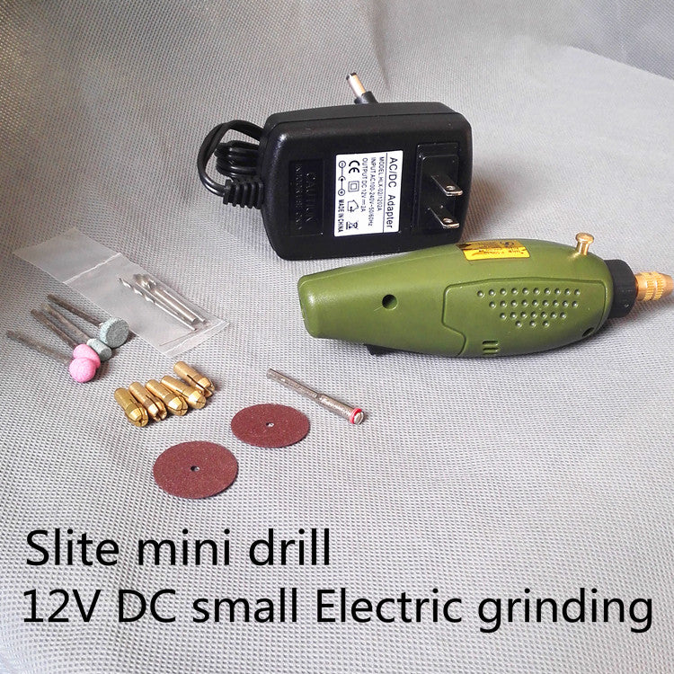 Slite Mini Electric drill accessories Electric Grinding Set 12V DC Grinder Tool for Milling Polishing Drilling Engraving
