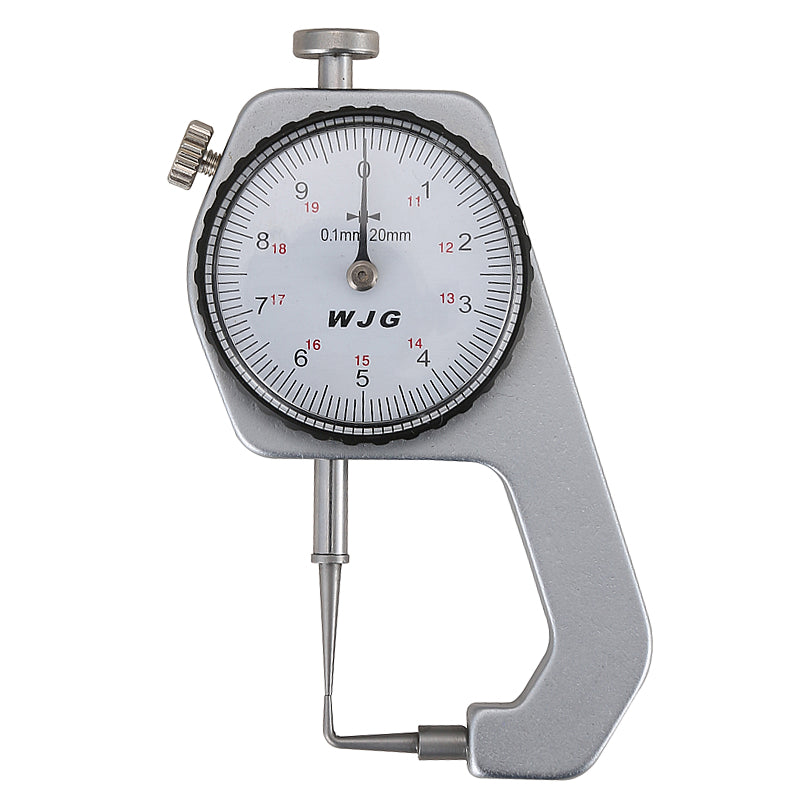 FJS Dial Thickness Gauge Curved Tip 0-10mm/0.1mm For Hollow Pipe Or Circular Tube Caliper Gauge Measuring Tools