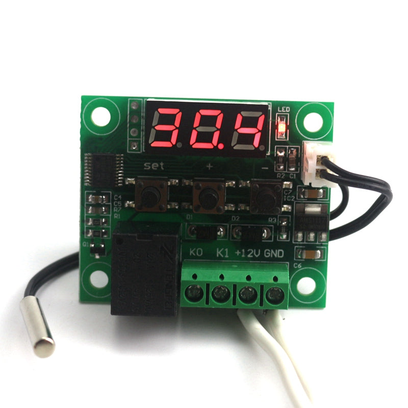 DC 12V -50~110C Mini Thermostat Regulator Digital Temperature Controller for Incubator Temp. Control Switch Plate Free Shipping
