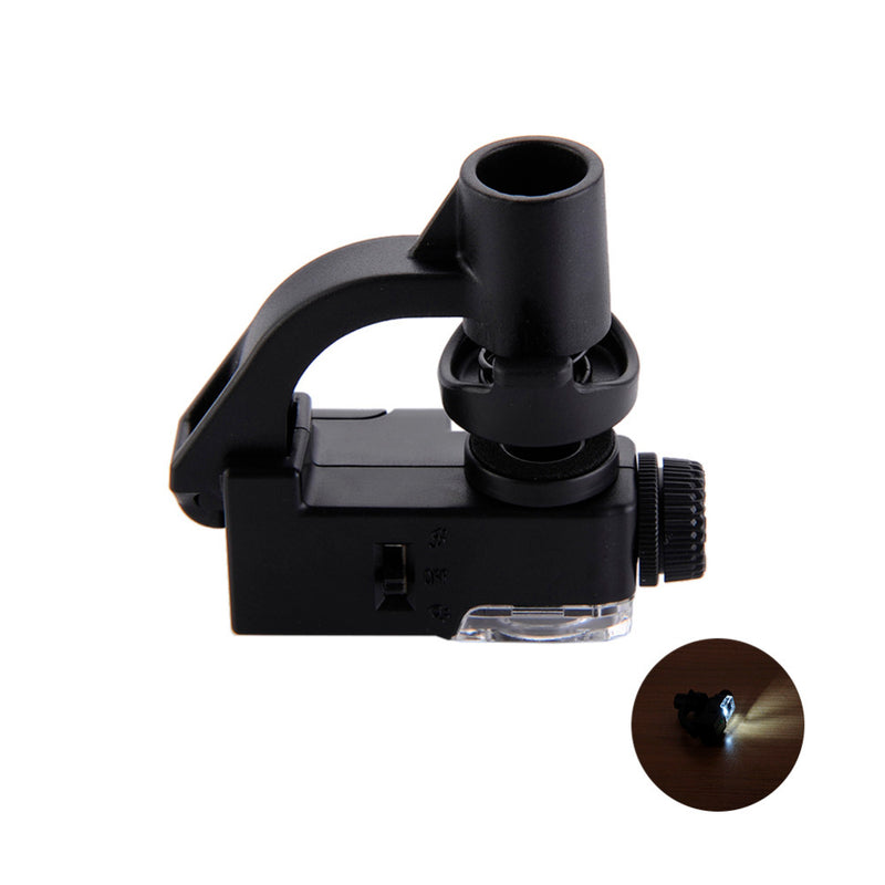 90X Macro Lens Mobile Phone Microscope Magnifying Glass LED Tools Magnification With Micro Camera Clip Optical Zoom Magnifier