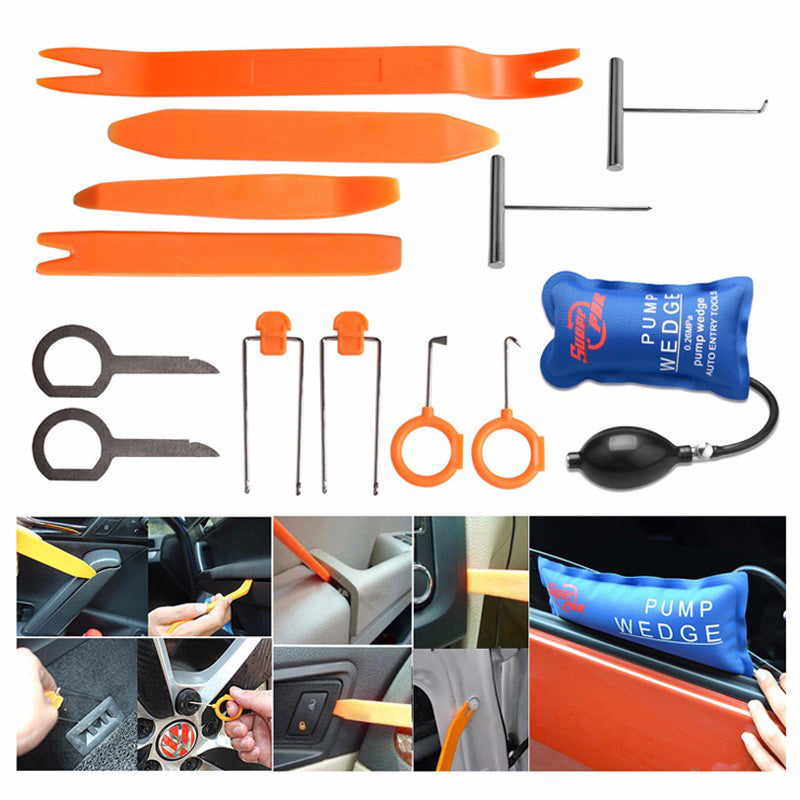 Super PDR Pump Wedge Locksmith Tools Lock Pick Set Open Car Door Lock Opening Tools Car Radio Panel Removal Tools